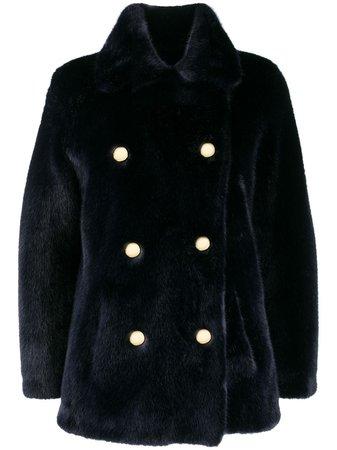 Blue La Seine & Moi Brigitte faux-fur coat - Farfetch