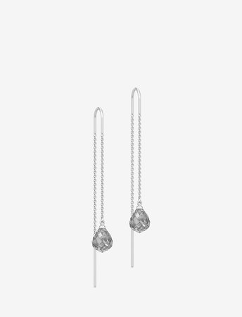 Evening Dew Earrings - Rho/grey (Grey) (1275 kr) - Julie Sandlau - | Boozt.com