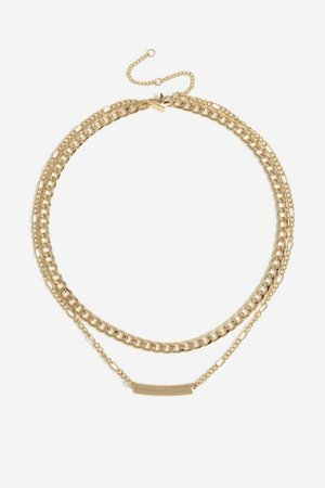 **Chunky Bar Necklace | Topshop