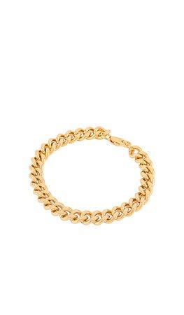 AUREUM Ava Curb Chain Bracelet in Gold | REVOLVE