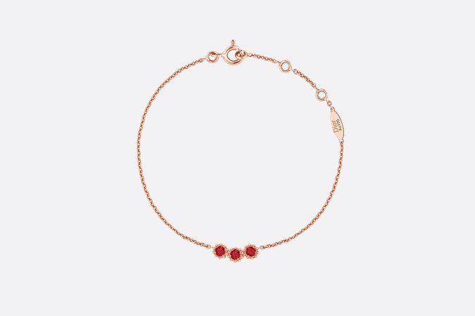 Dior, MIMIROSE BRACELET Rose Gold and Rubies