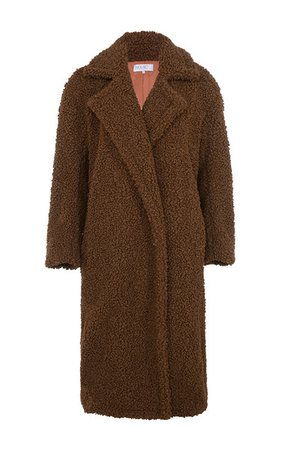 'Bear' Brown Faux Fur Sherpa Coat House of CB