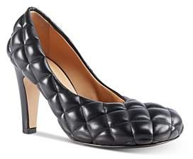 Women's Quilted Leather Pumps