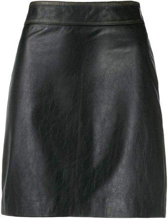 high-rise mini skirt