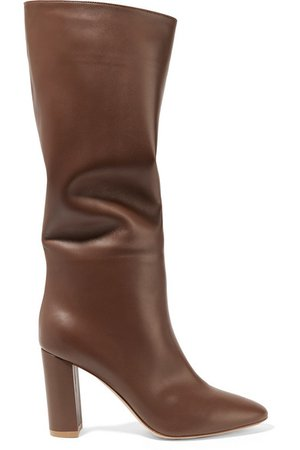 Gianvito Rossi | Laura 85 leather knee boots | NET-A-PORTER.COM