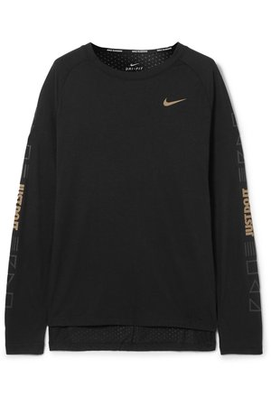 Nike | Tailwind printed perforated stretch-jersey top | NET-A-PORTER.COM