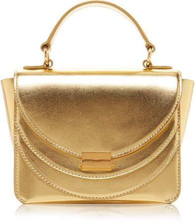 Luna Mini Metallic Leather Shoulder Bag
