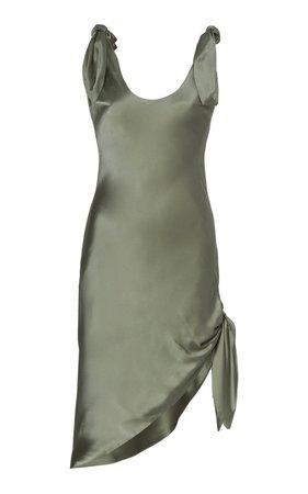 Delilah Tie-Detailed Silk-Satin Mini Dress by Cult Gaia | Moda Operandi
