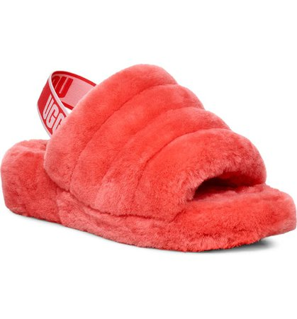 UGG® Fluff Yeah Genuine Shearling Slide