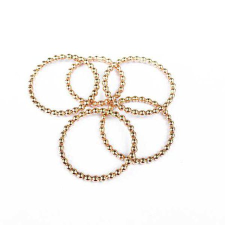 Rings   Shop Women's Gold Sterling Silver Round Ring at Fashiontage   AGA266GF5