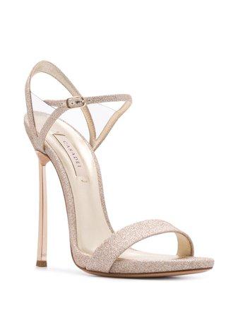 Casadei Glitter Embellished High Heel Sandals - Farfetch