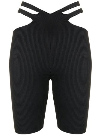 Dion Lee Lustrate Fork Knit Shorts - Farfetch