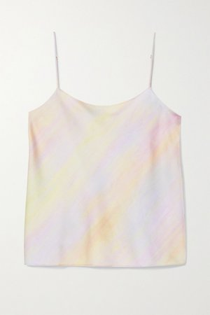 Pink Printed satin camisole | Vince | NET-A-PORTER
