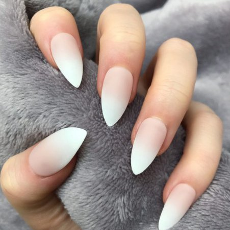 Nude Ombre Matte Stiletto – Doobys Nails