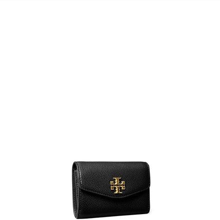 Kira Pebbled Medium Flap Wallet