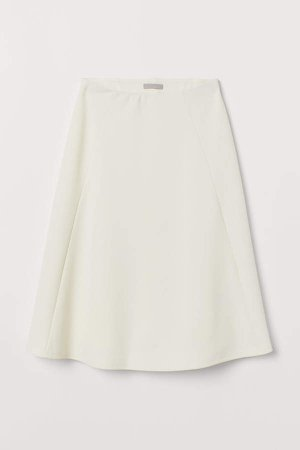 Rib-knit Skirt - White