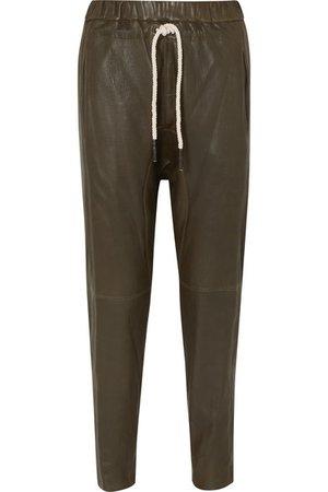Bassike   + NET SUSTAIN leather track pants   NET-A-PORTER.COM