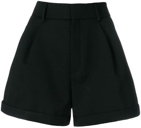 flared design shorts