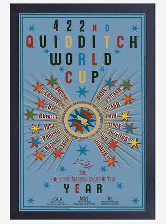 Harry Potter Quidditch World Cup Poster