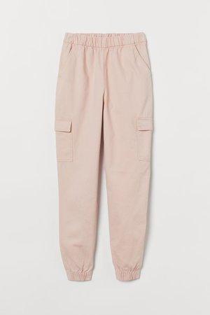 Twill Cargo Pants - Powder pink - Ladies | H&M US