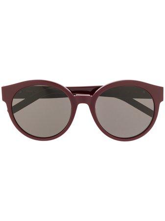 Saint Laurent Eyewear Round Frame Sunglasses Aw20   Farfetch.Com
