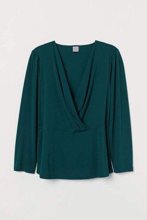 H&M+ Wrapover Top - Green
