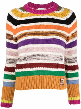ZIMMERMANN striped knitted jumper - FARFETCH