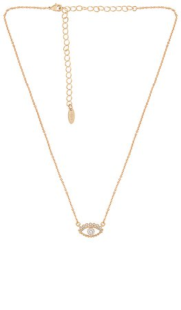 Ettika Evil Eye Necklace in Gold | REVOLVE