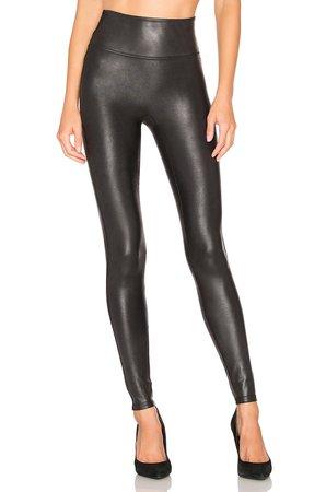 SPANX Faux Leather Leggings in Black   REVOLVE