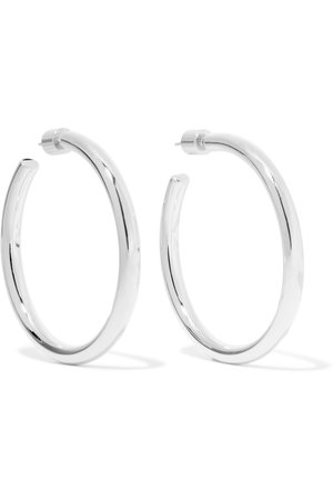 Jennifer Fisher | Baby Lilly silver-plated hoop earrings | NET-A-PORTER.COM