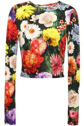 Floral-print Stretch-jersey Top