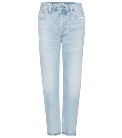 Liya high-rise cropped jeans