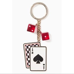 kate spade Accessories | Kate Spade Lucky Draw Playing Card Keychain | Poshmark