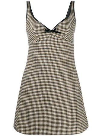 Alexa Chung Sleeveless Check Pattern Dress - Farfetch