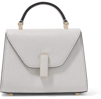 Iside Micro Textured-leather Shoulder Bag - Stone
