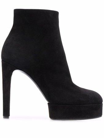 Casadei ankle-length Suede Platform Boots - Farfetch