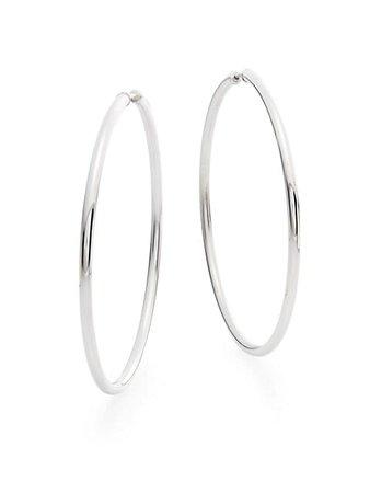 """Saks Fifth Avenue Sterling Silver Hoop Earrings/2.25"""" on SALE   Saks OFF 5TH"""