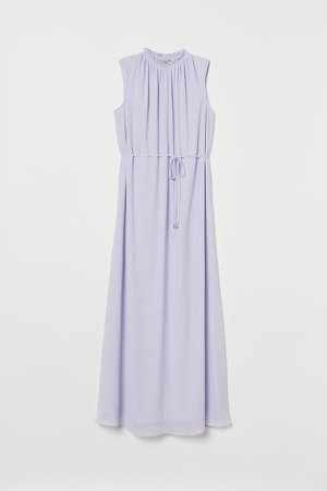 Crinkled Dress - Purple