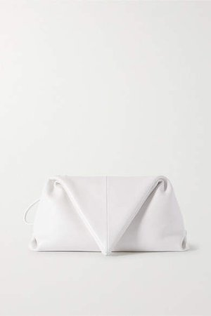 Envelope Leather Clutch - White
