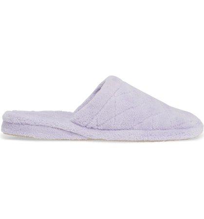 Aria Plush Slipper Lilac