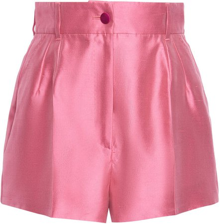 Dolce & Gabbana Pintucked Silk Shorts Size: 36