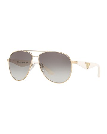 Prada Metal Aviator Sunglasses | Neiman Marcus