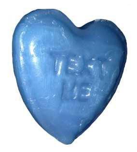 blue heart candy
