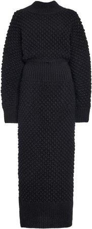 Dolce & Gabbana Ribbed-Trim Midi Dress