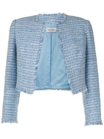 Isabel Sanchis Cropped Tweed Jacket - Farfetch