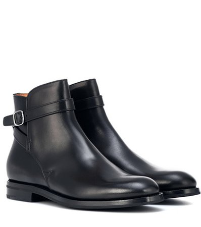 Merthyr leather ankle boots