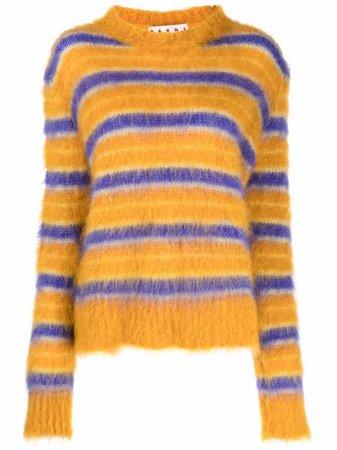Marni round-neck striped jumper - FARFETCH