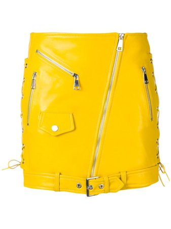 Manokhi Zipped Biker Skirt - Farfetch