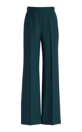Vesta Wool-Blend Straight-Leg Pants By Gabriela Hearst   Moda Operandi