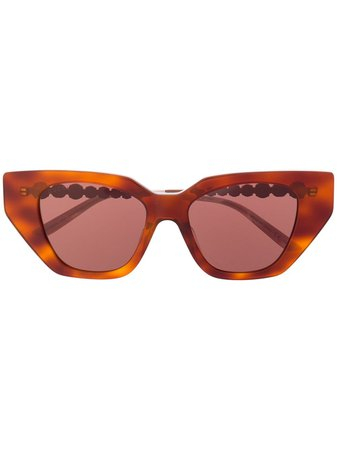 Gucci Eyewear Utsmyckade Cat eye-solglasögon - Farfetch
